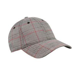Black/Red Glen Plaid Cap Adjustable